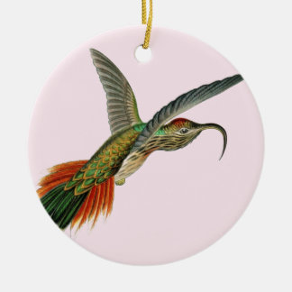 Beautiful girly bird of paradise picture ceramic ornament