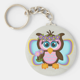 Beautiful Girly Fairy Owl Keychain