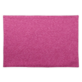 Beautiful girly hot pink glitter effect background cloth placemat