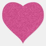 Beautiful girly hot pink glitter effect background heart sticker