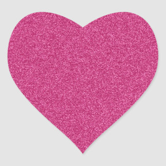 Beautiful girly hot pink glitter effect background heart sticker