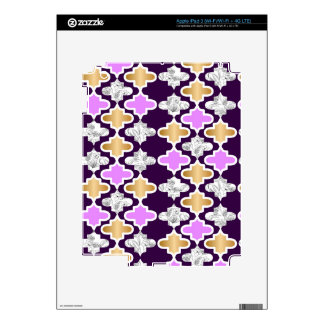 Beautiful girly pattern with gold and purple iPad 3 skins