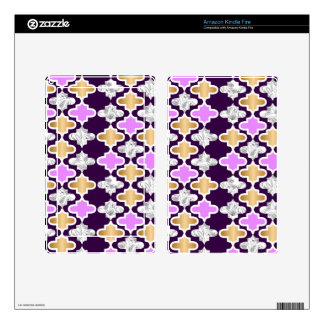 Beautiful girly pattern with gold and purple skins for kindle fire