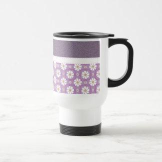Beautiful Girly Purple Floral Pattern Mug