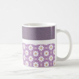Beautiful Girly Purple Floral Pattern Mugs