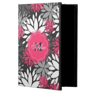 Beautiful girly trendy monogram floral pattern powis iPad air 2 case