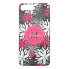 Beautiful girly trendy monogram floral pattern iPhone 8 plus/7 plus case