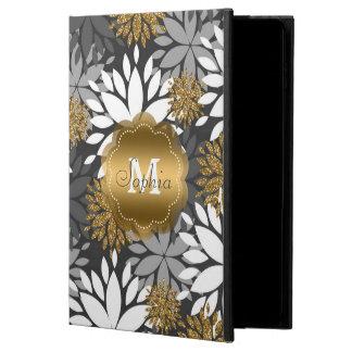 Beautiful girly trendy monogram floral powis iPad air 2 case