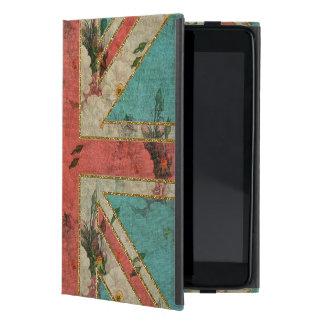 Beautiful girly trendy vintage floral U.K. Flag Cases For iPad Mini