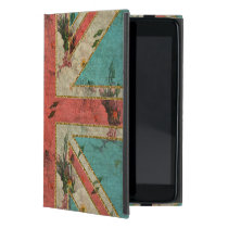 Beautiful girly trendy vintage floral U.K. Flag Cover For iPad Mini