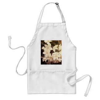 beautiful girly white flowers spring blossoms adult apron