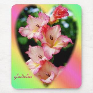 Beautiful gladiolas on a mousepad