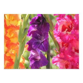 "Beautiful Gladiolus Blooms 5.5"" X 7.5"" Invitation Card"