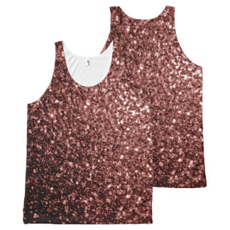 Beautiful Glam Brown Red Glitter sparkles All-Over-Print Tank Top