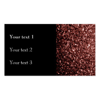 Beautiful Glam Marsala Brown-Red Glitter sparkles Double-Sided Standard Business Cards (Pack Of 100)