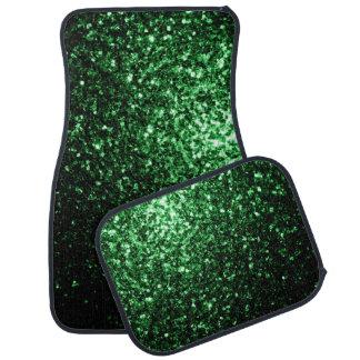 Beautiful Glamour Dark Green glitter sparkles Car Mat