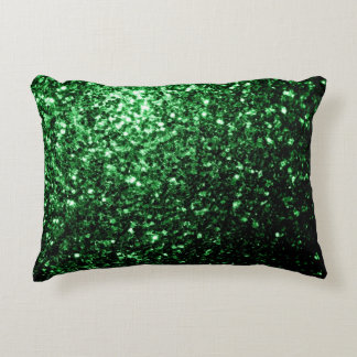 Beautiful Glamour Green glitter sparkles Accent Pillow