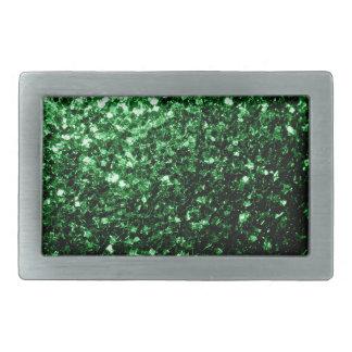 Beautiful Glamour Green glitter sparkles Belt Buckle