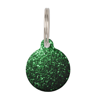 Beautiful Glamour Green glitter sparkles Pet Nametag
