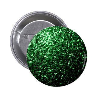 Beautiful Glamour Green glitter sparkles Pinback Button