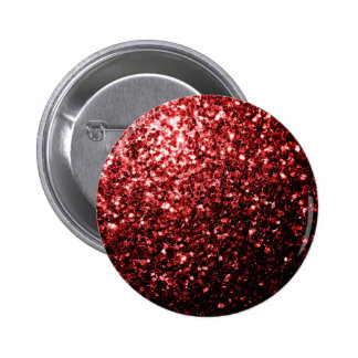 Beautiful Glamour Red Glitter sparkles Button