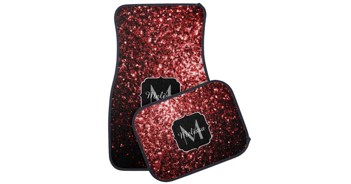 Pleasing Beautiful Glamour Red Glitter Sparkles Monogram Car Mat Zazzle Com Uwap Interior Chair Design Uwaporg