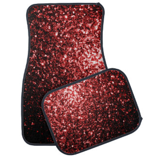 Beautiful Glamour Red Glitter sparkles Floor Mat