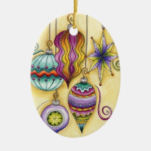 Beautiful Glass Colorful Christmas Ornaments | Zazzle