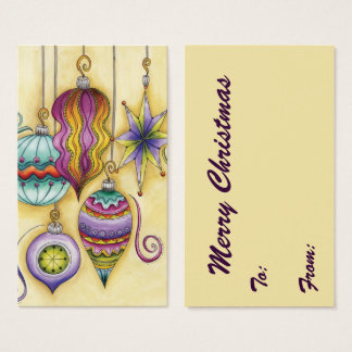 Beautiful Glass Colorful Christmas Ornaments Business Card