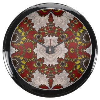Beautiful Glossy Fractal Aqua Clock