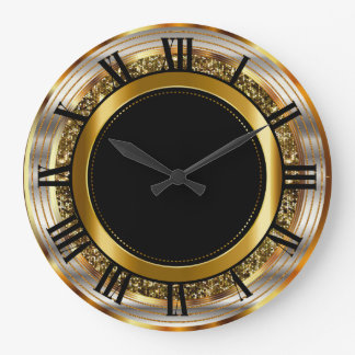 Beautiful Gold and Black Large Clock