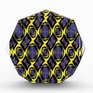 Beautiful Gold & Blue Pattern Multiple Product Sel Acrylic Award