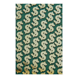 Beautiful Gold dollar signs Poster