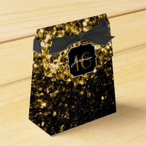 Beautiful Gold glitter sparkles favor box