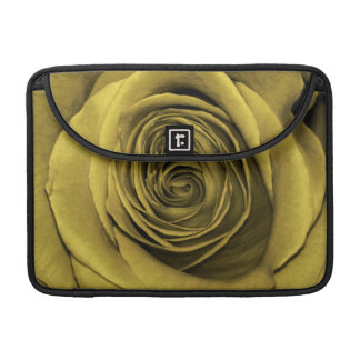 Beautiful Gold Rose Flower Floral Photo Sleeves For MacBooks