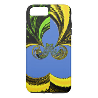 Beautiful Golden Blue latest abstract design iPhone 7 Plus Case