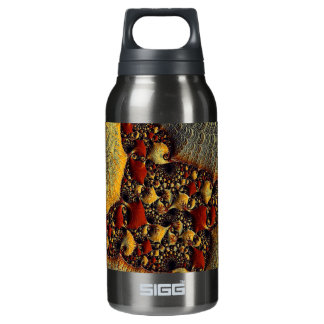 Beautiful Golden Delight Fractal Art Insulated Water Bottle