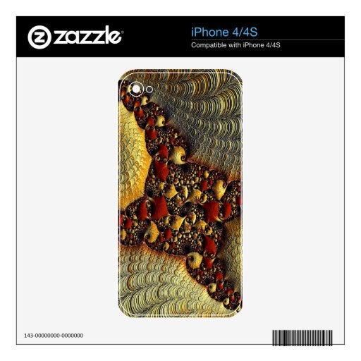 Beautiful Golden Delight Fractal Art Skin For iPhone 4S
