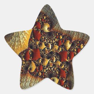 Beautiful Golden Delight Fractal Art Sticker