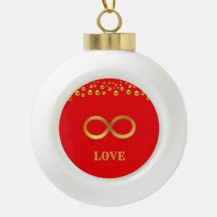 TOOLOUD Always Infinity Symbol Circular Metal Christmas Ornament