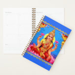 "Beautiful Golden Lakshmi Diwali Goddess Planner<br><div class=""desc"">Let Lakshmi help you keep life and household organized with this artistic Lakshmi planner calendar. For Hindus, the goddess Lakshmi symbolizes good luck. The word Lakshmi is derived from the Sanskrit word Laksya, meaning &quot;aim&quot; or &quot;goal, &quot; and in the Hindu faith, she is the goddess of wealth and prosperity...</div>"
