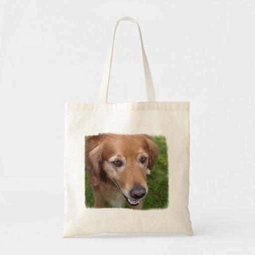 Beautiful Golden Retriever Tote Bags
