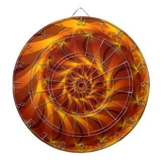 Beautiful Golden Spiral Fractal Dart Board