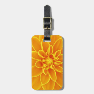beautiful golden yellow dahlia flower colorful bag tag