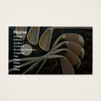 Beautiful Golf clubs Business Card
