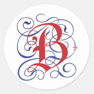Beautiful Gothic-B Classic Round Sticker
