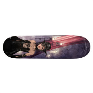 Beautiful Gothic Queen & Candles Skateboard