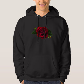 Beautiful Gothic Red Rose Hoodie