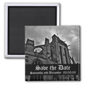 Beautiful Gothic Save the Date Fridge Magnet