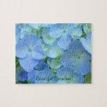 Beautiful Grandma! puzzles Blue Hydrangea Flowers